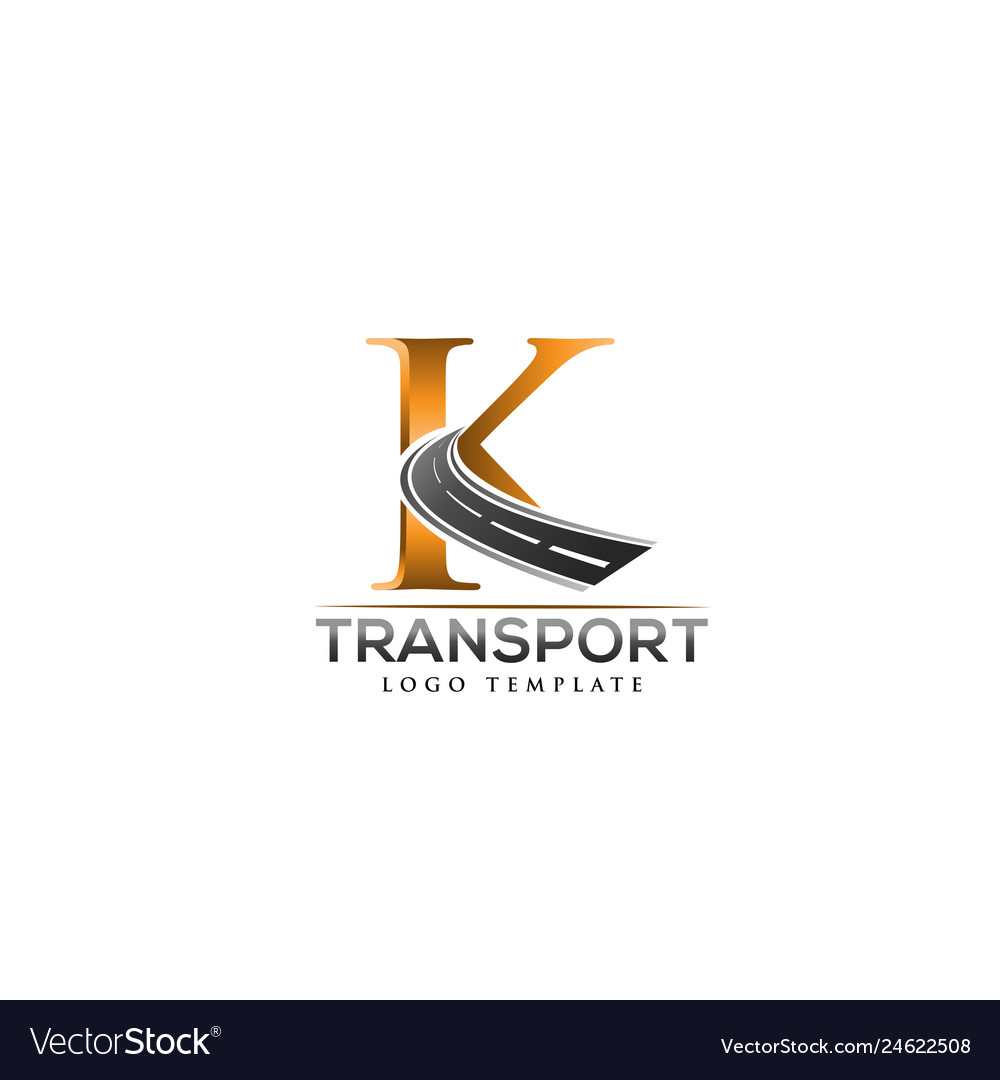 K Letter Road Construction Creative Logo