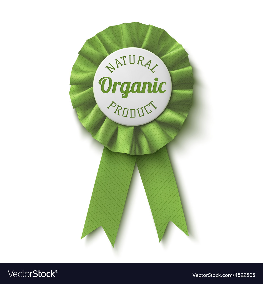 Natural organic product Realisticgreen label