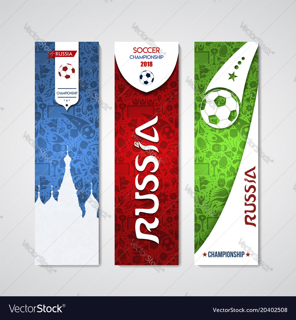 Russia banner template set for event