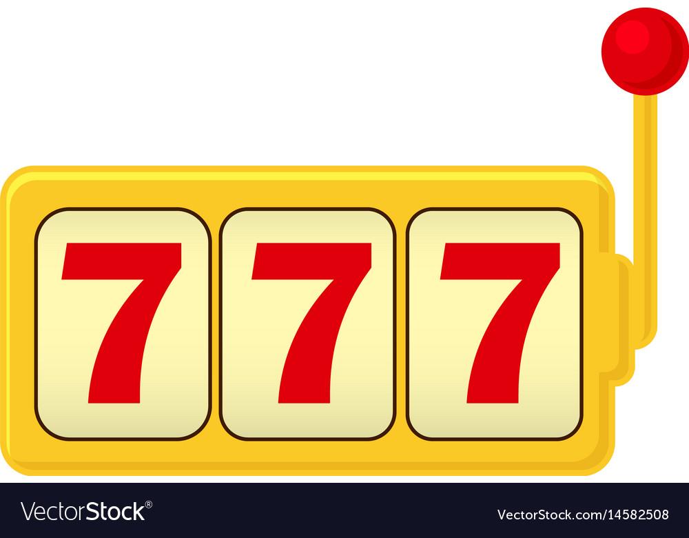 slot machine jackpot three 7 classic gambling vector image