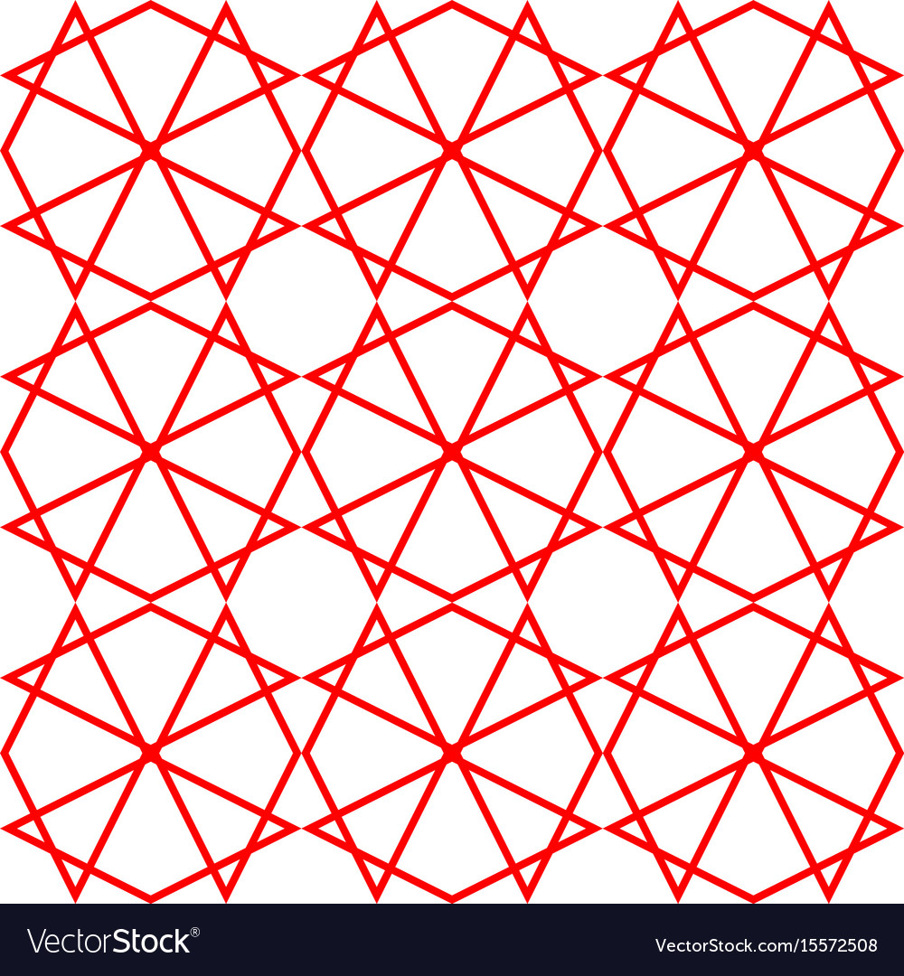 Tile pattern or red and white wallpaper background vector image