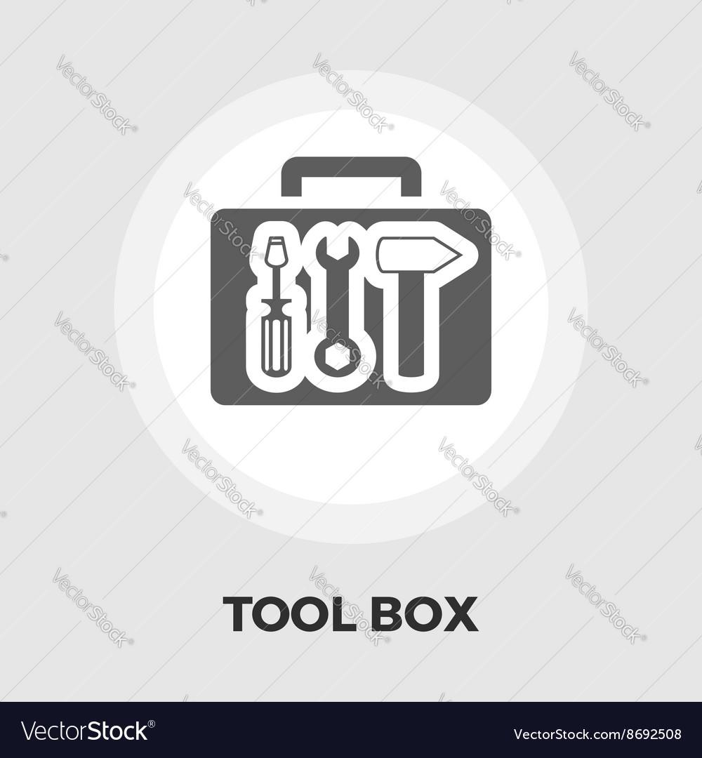 Tool box icon flat
