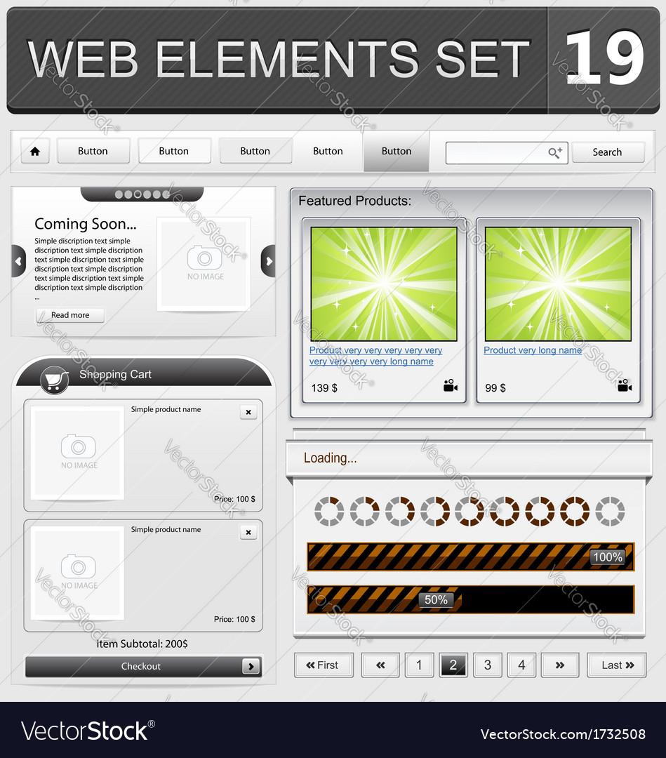 Web elements set 19