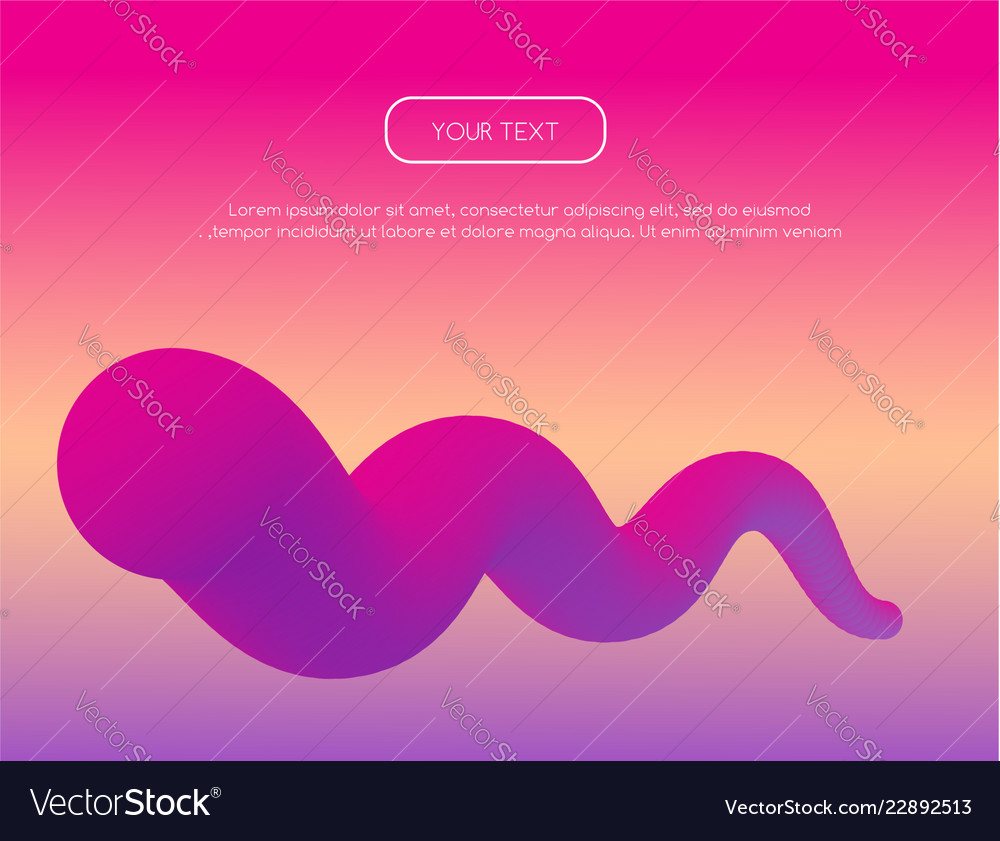 Abstract background with 3d wavy shape and