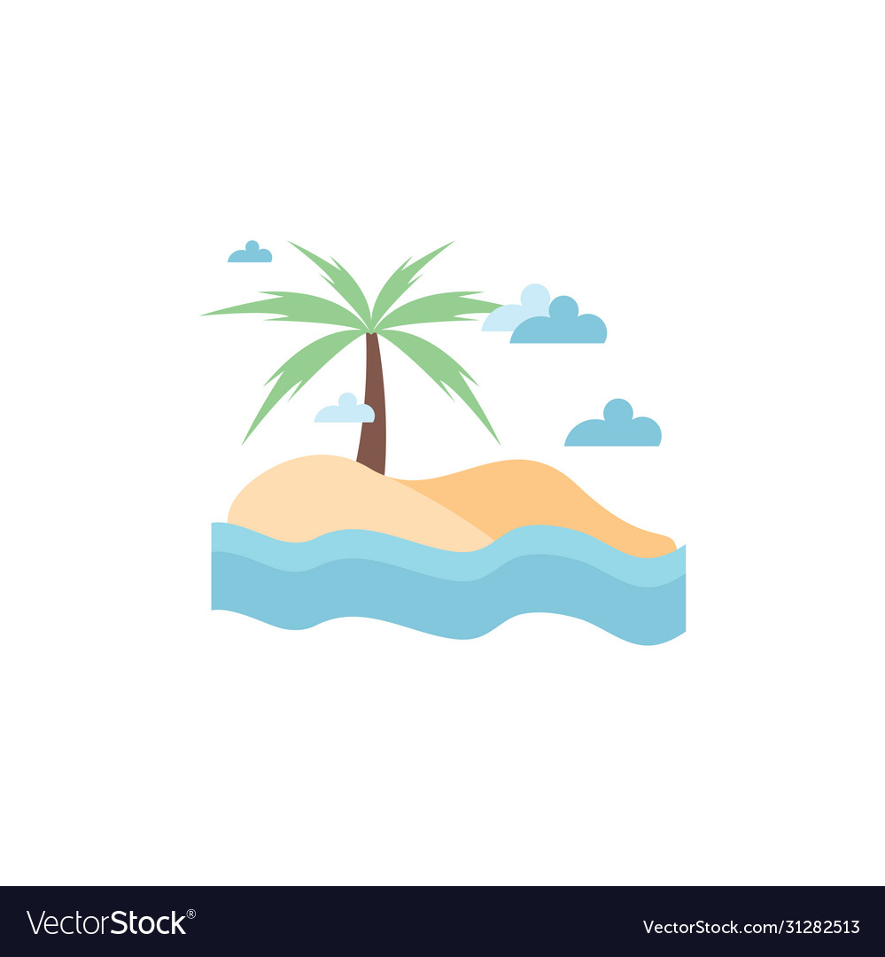 Beach graphic design template isolated