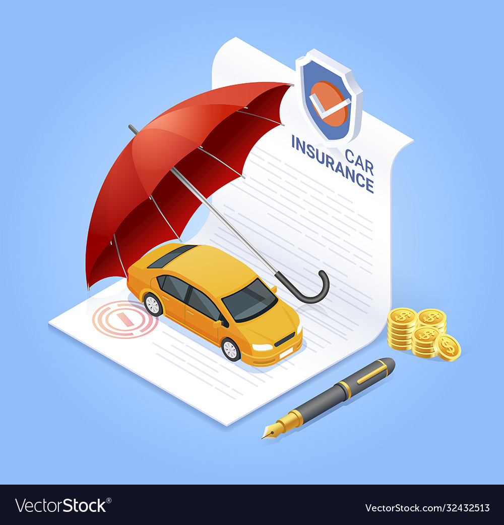 Car insurance services insurance contract documen