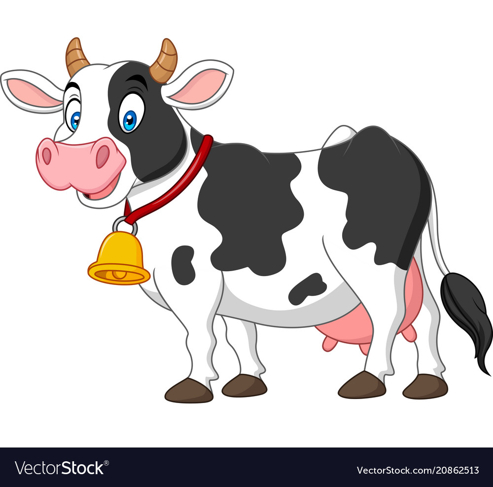 Cartoon Happy Cow Royalty Free Vector Image