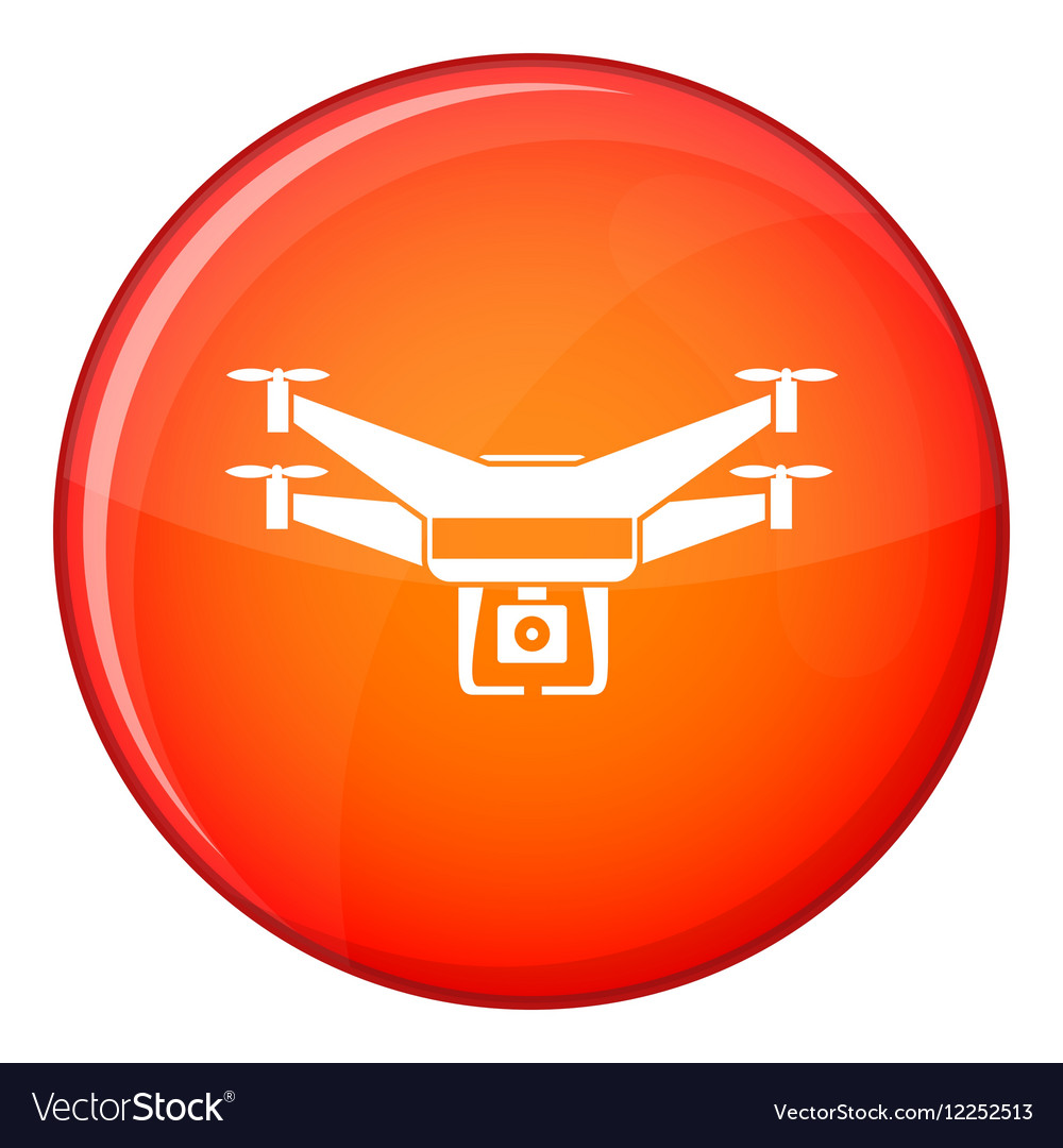 Drone video camera icon flat style vector image