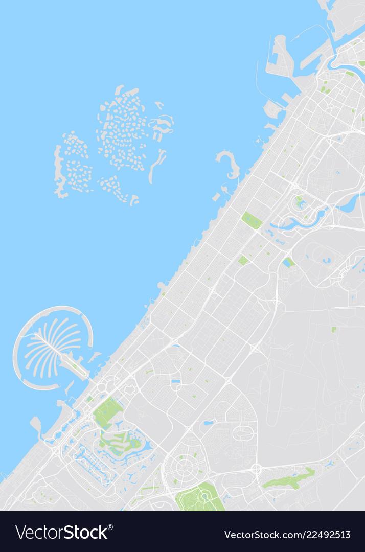 Dubai colored map