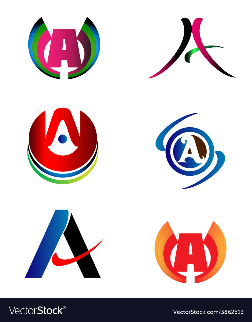Letter a logo design sample icon set royalty free vector letter a logo design sample icon set vector image spiritdancerdesigns Gallery