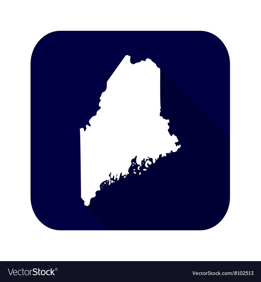 Map of the US state of Maine
