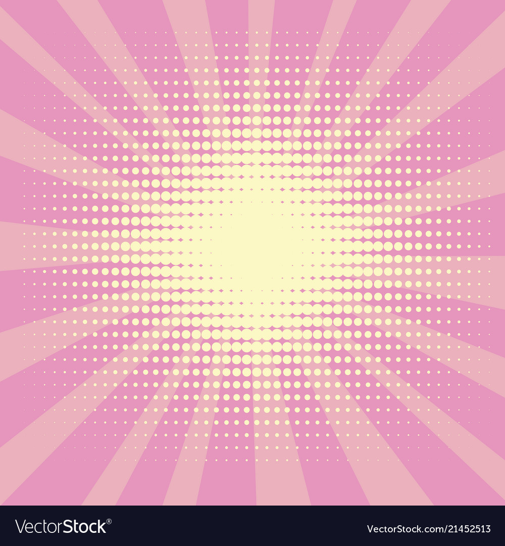 Pop art background the rays of the sun of yellow