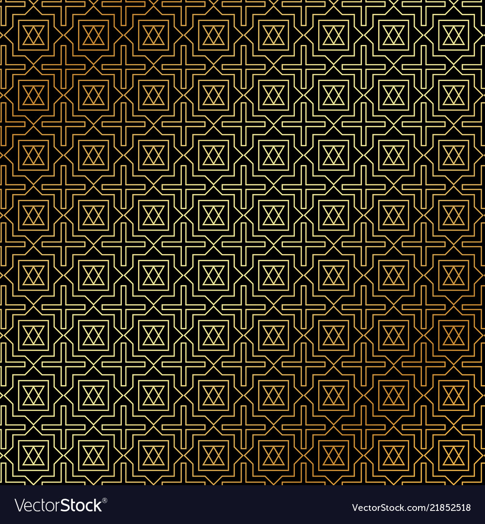 Abstract gold geometric pattern art deco style on