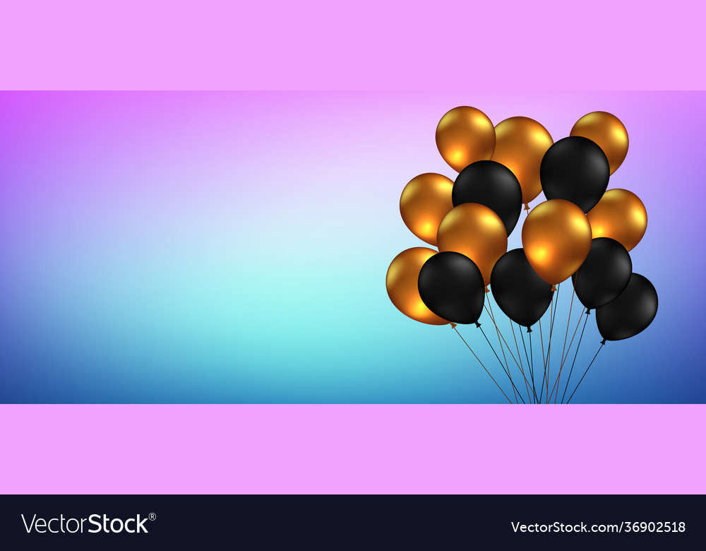 Celebration festival blue background with helium vector