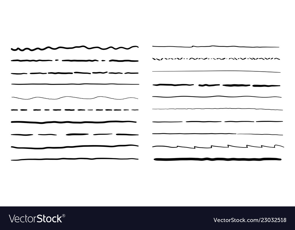 Hand drawn doodle line borders set