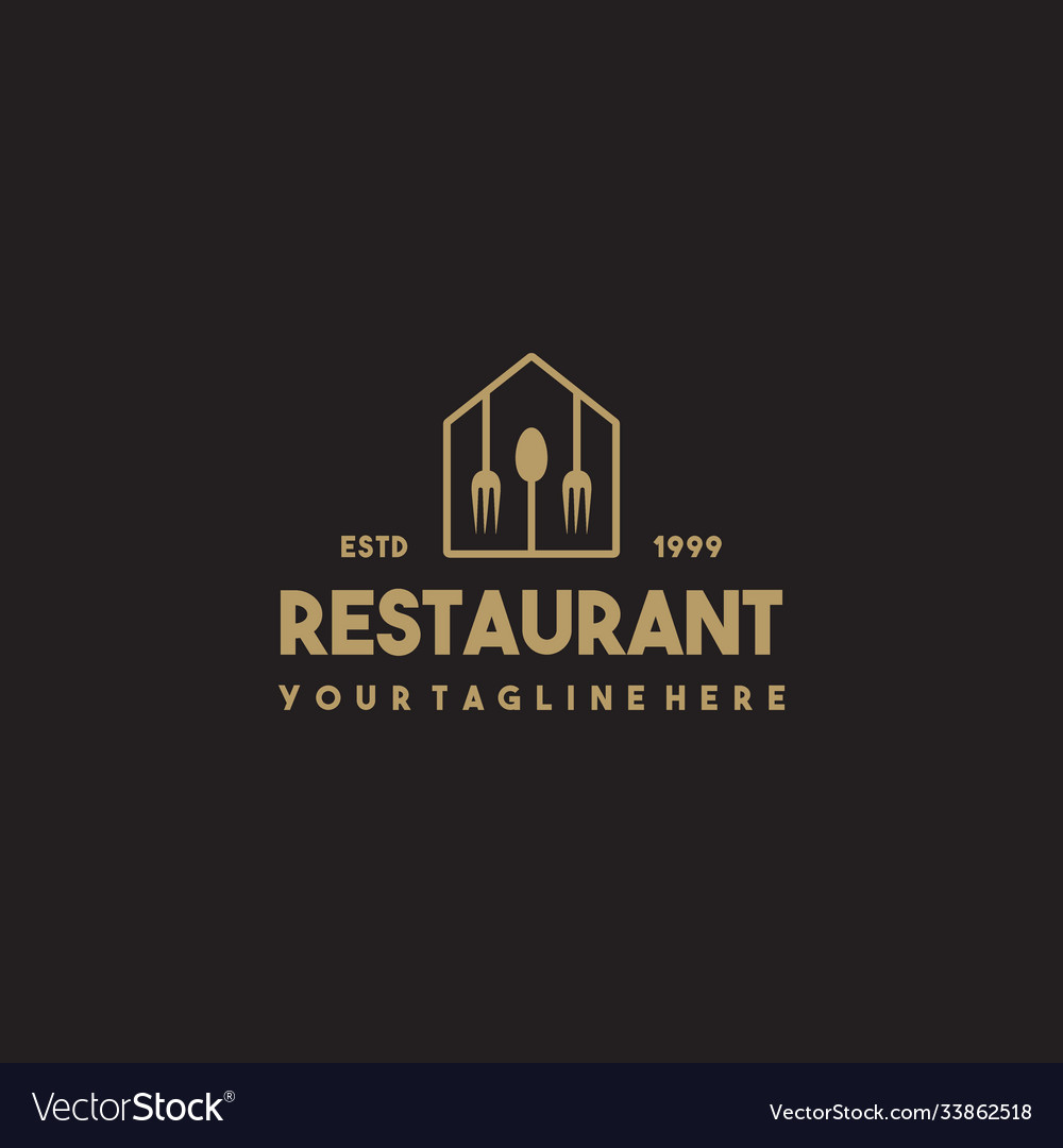 Professional Modern Restaurant Logo Design Vector Image