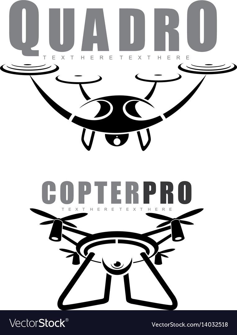 Quadrocopter vector image