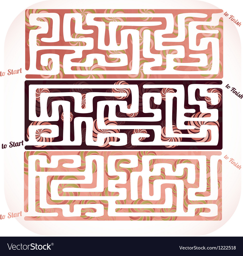 Set of lolipop maze vector image