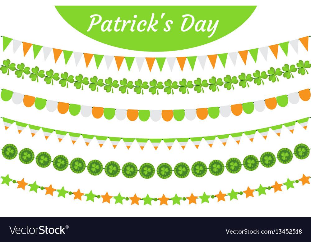 St patrick s day garland set festive decorations