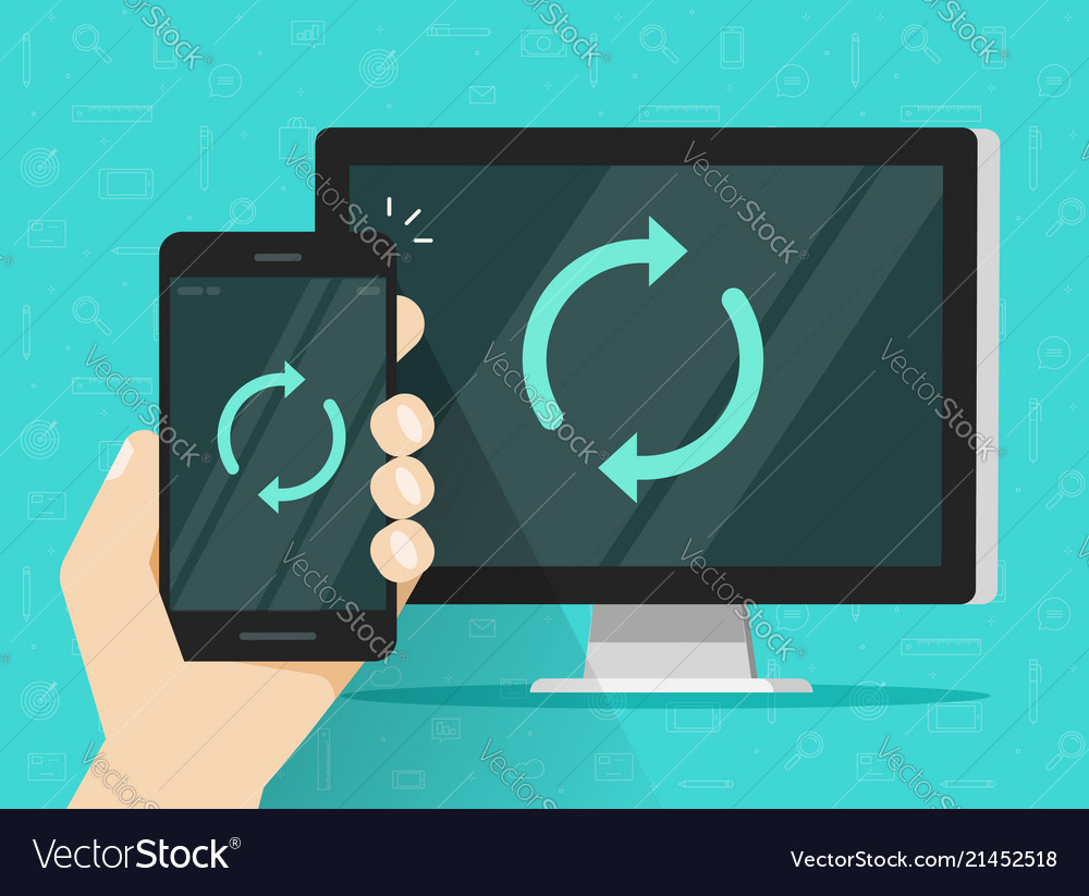 Synchronization of smartphone and computer