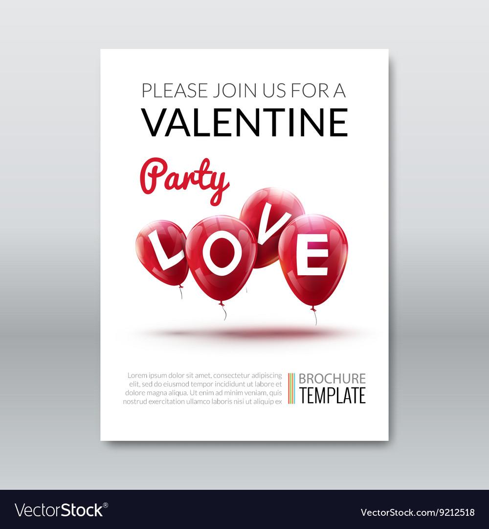 Template invitation valentine holiday Holiday