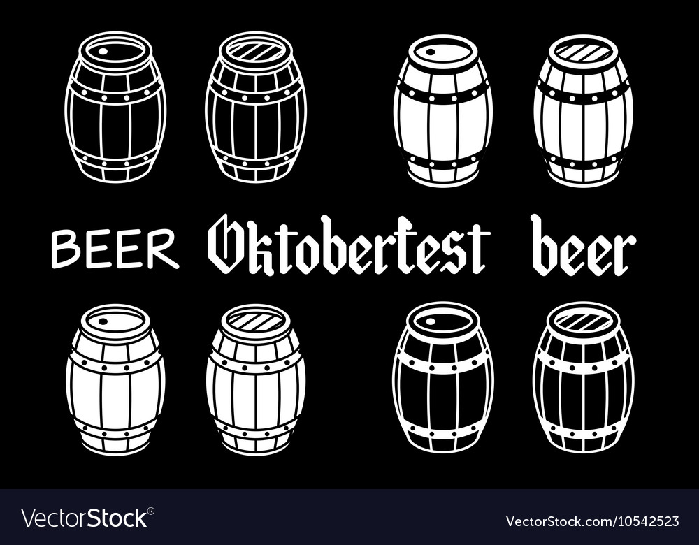 Barrels set beer oktoberfest wood