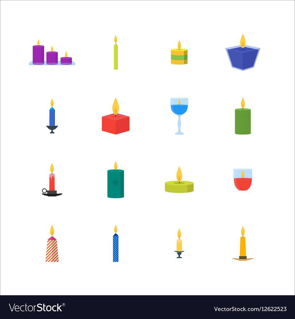 Cartoon Candles Set vector image