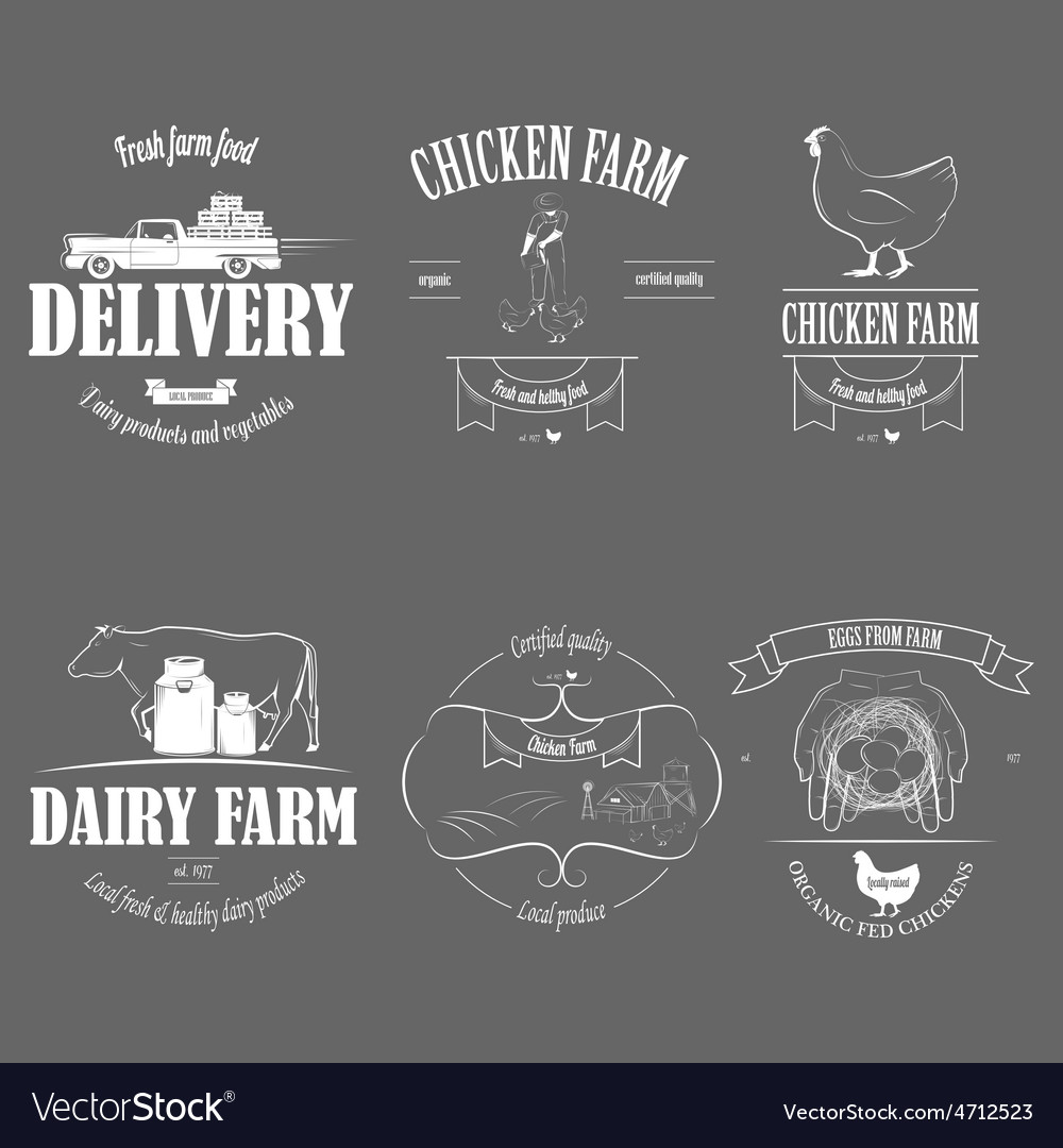 Farm Fresh Products Badge Set