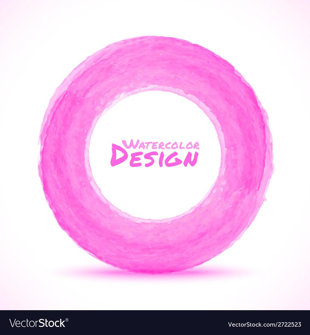 Hand drawn watercolor light pink circle design ele hand drawn watercolor light pink circle design ele vector image aloadofball Images