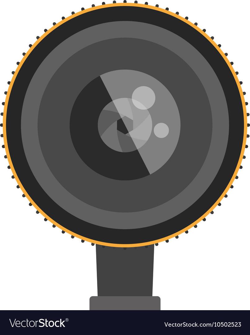 Photo optic lenses icon
