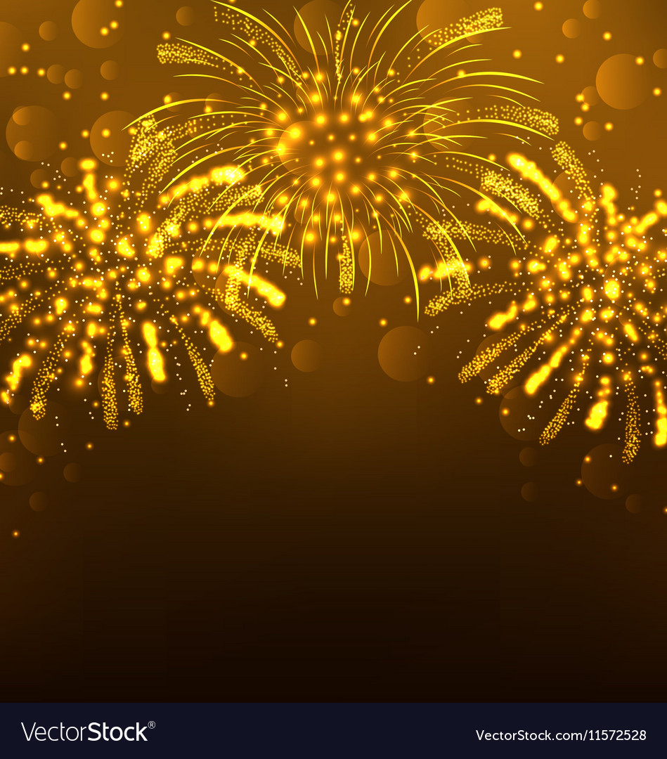 Festive Firework Bursting Holiday Background vector image