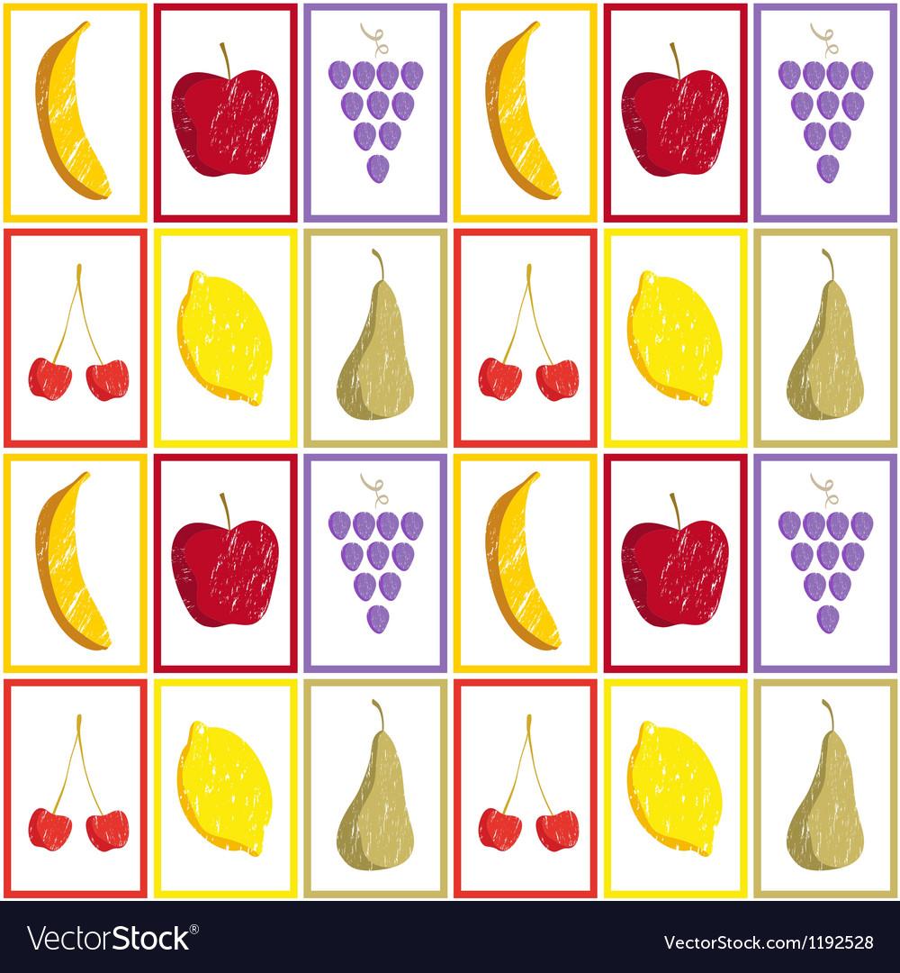 Fruit pattern vector image