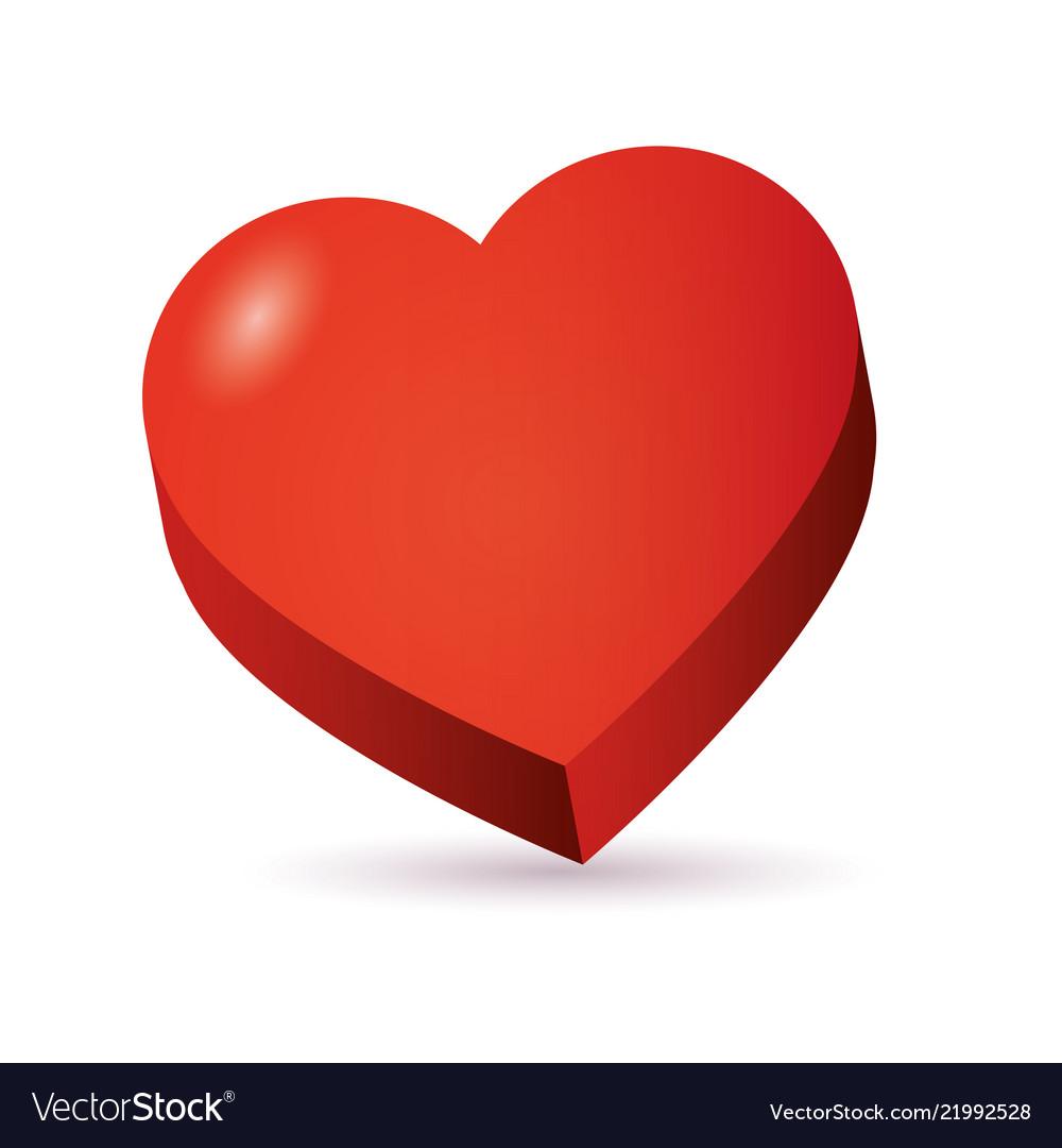 Heart isometric 3d icon