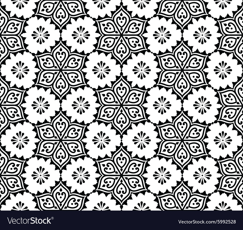 Indian seamless pattern repetitive Mehndi design vector image