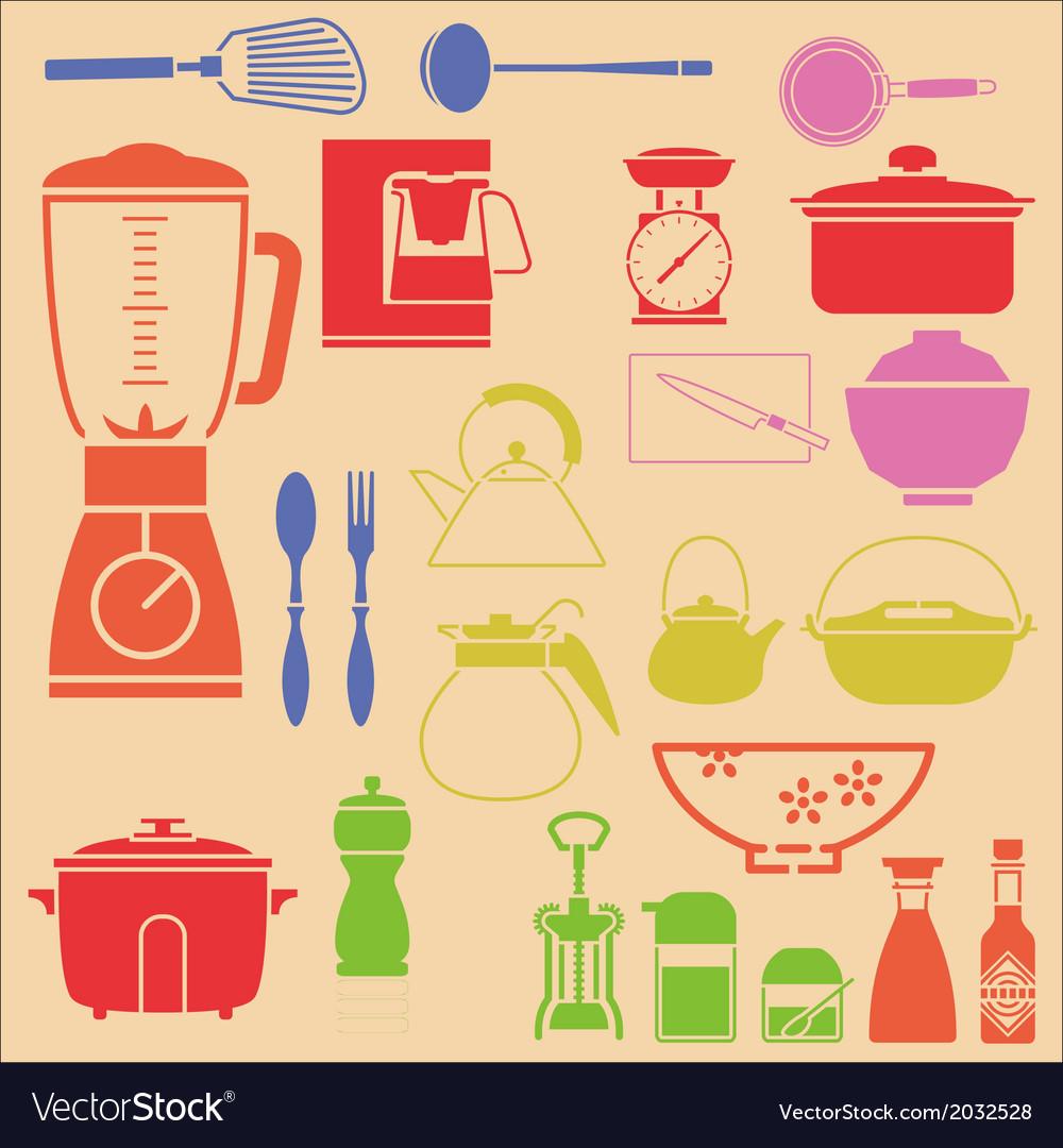 Kitchenset vector image