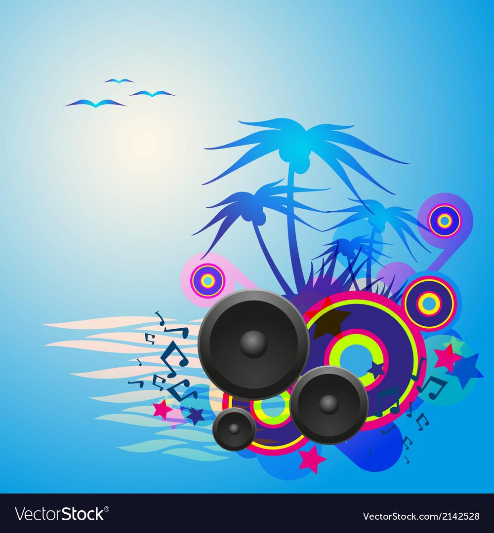 Night Disco Dance Tropical Music Flyer