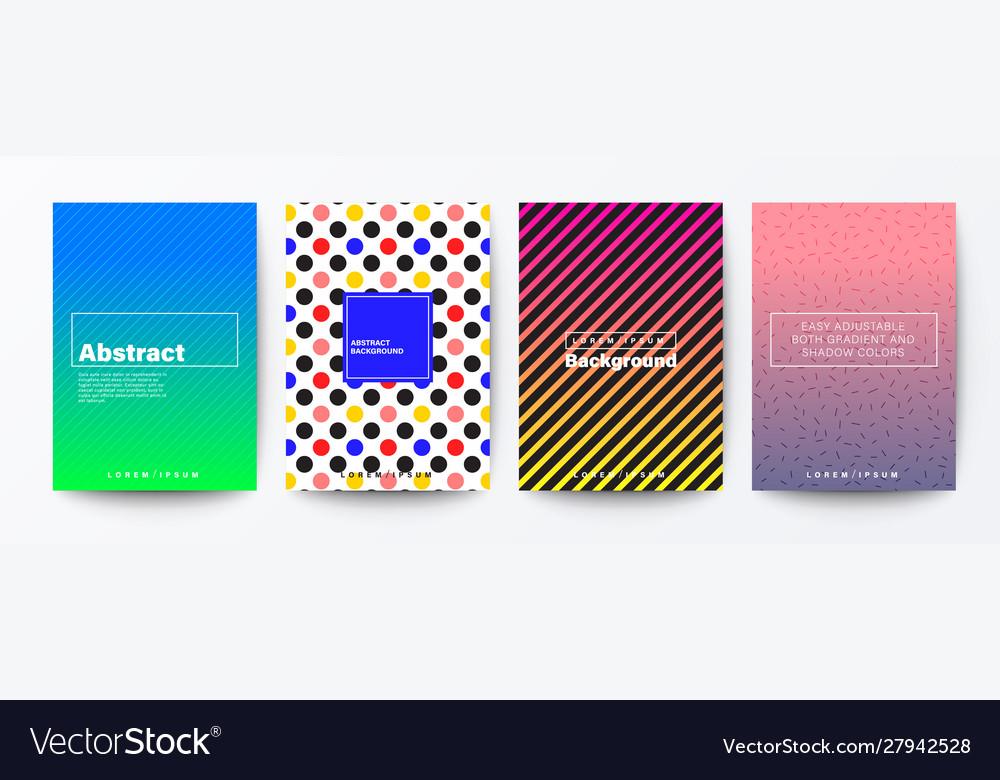 Set pattern background for brochure flyer
