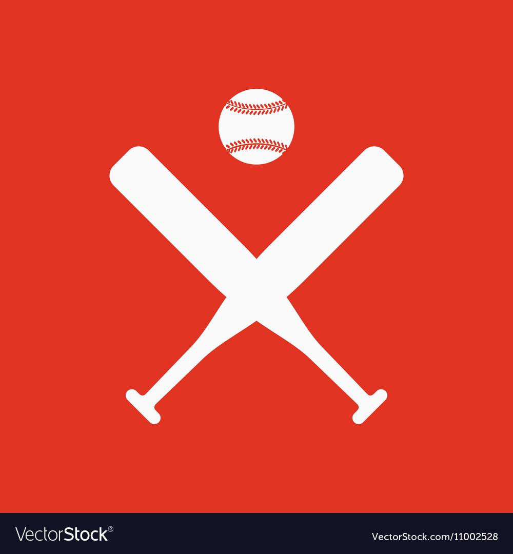 The baseball icon Sport symbol Flat