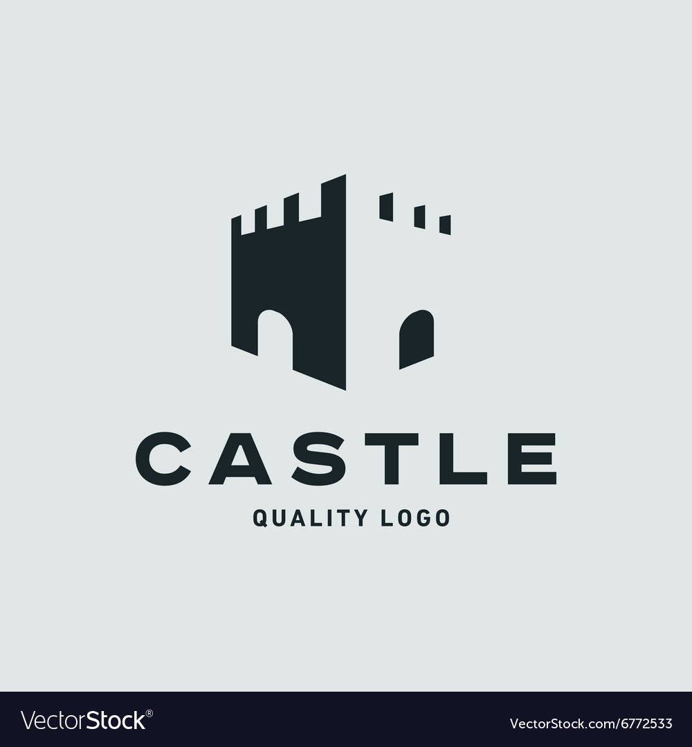 Abstract castle fortress trending flat quality