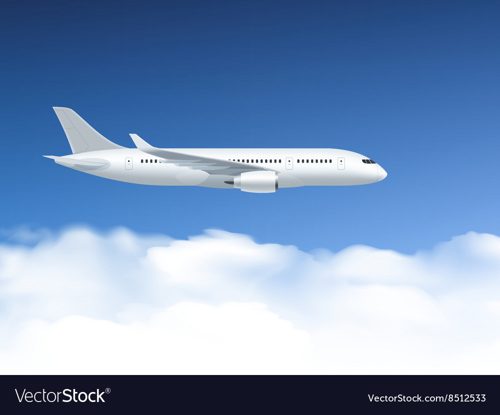 Airplane In Air Poster
