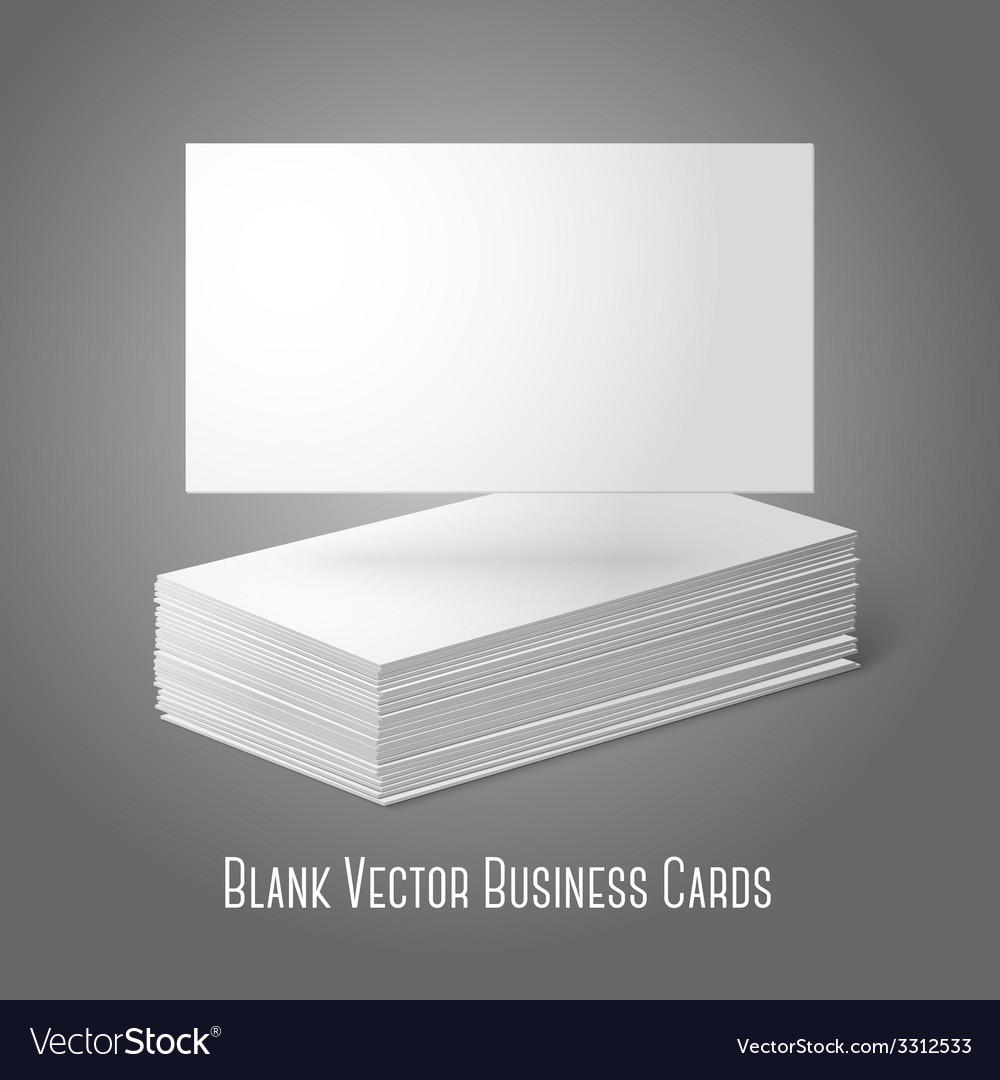 Blank business cards template pile and one flat vector image reheart Gallery