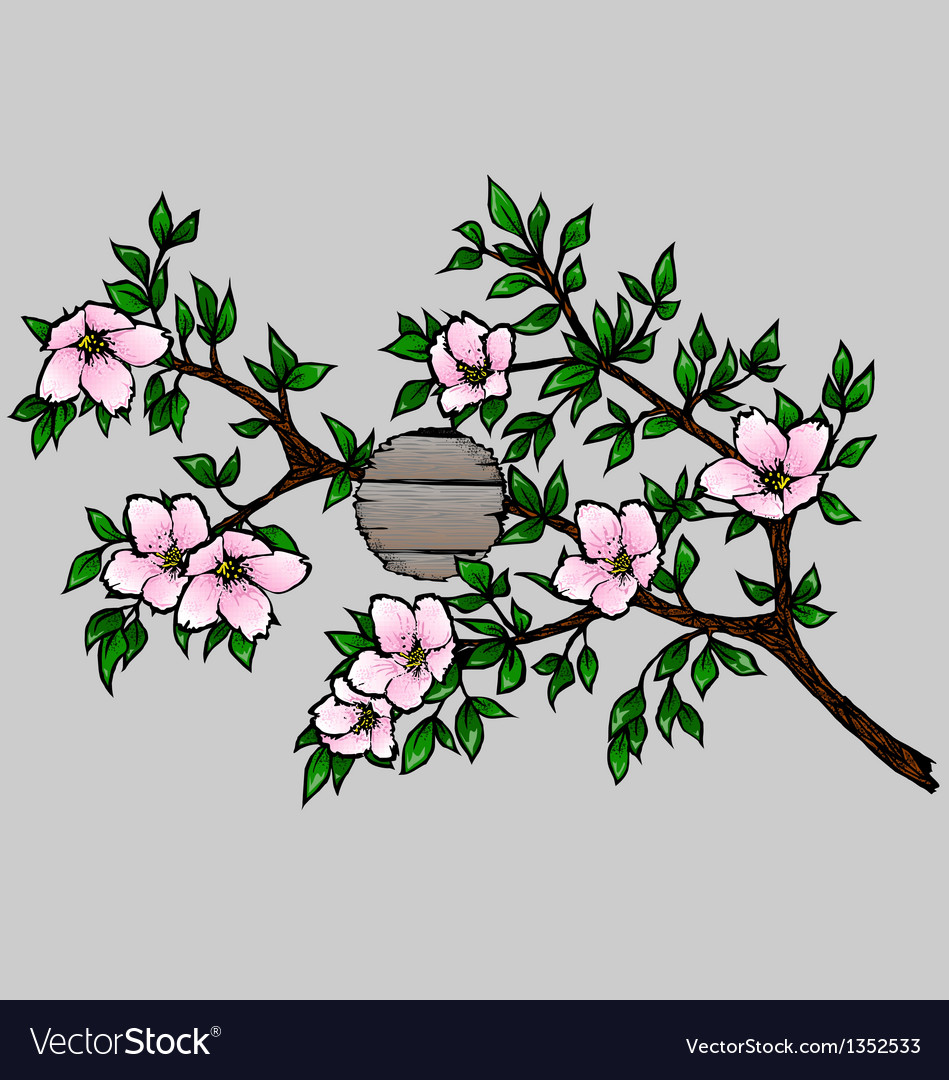 Branch with Cherry Blossoms