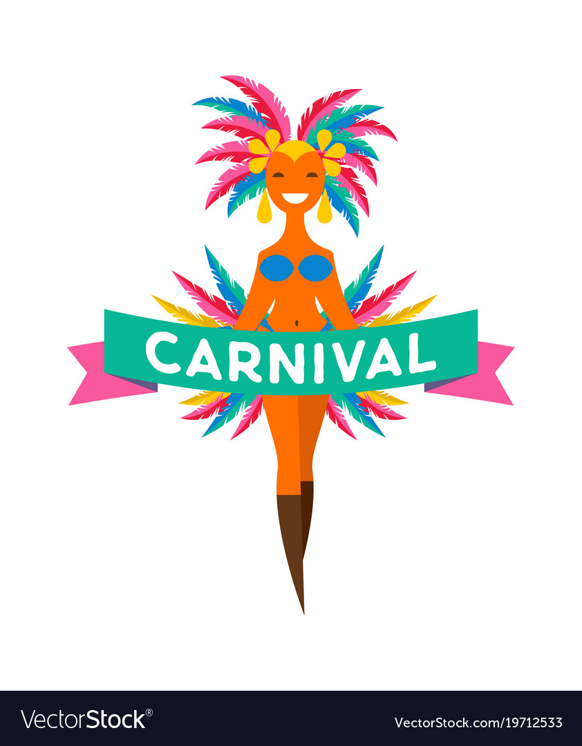 Brazilian carnival banner with colorful elements