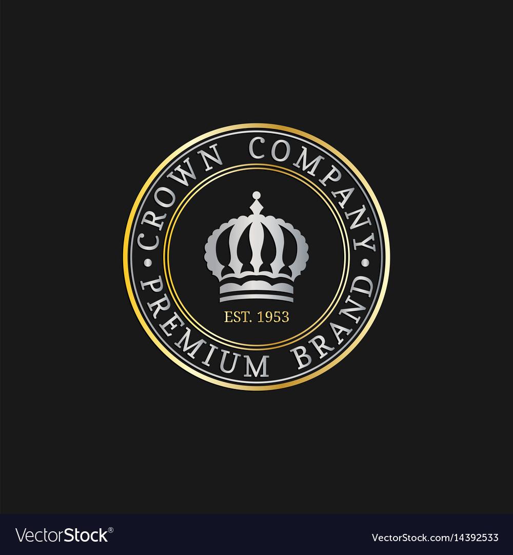 crown logos set luxury corona monograms royalty free vector