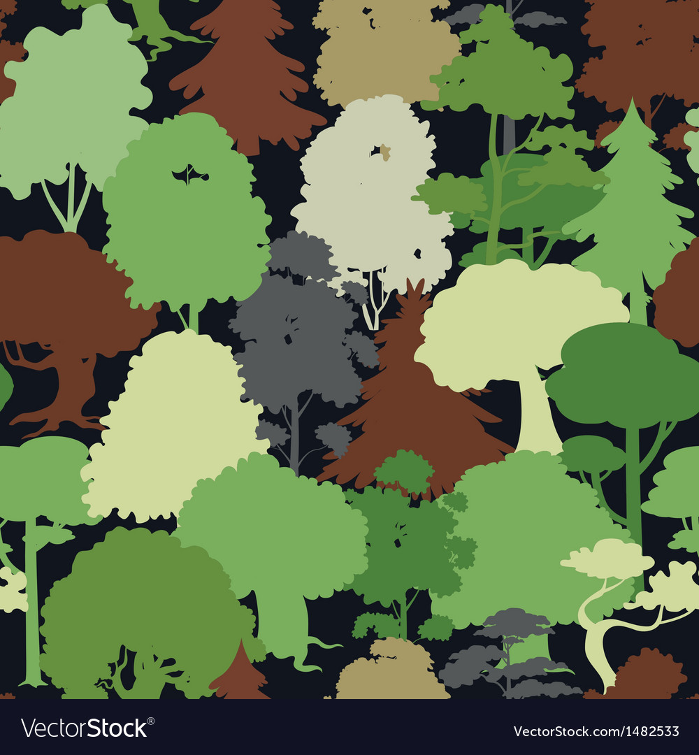 Deep forest camouflage seamless pattern