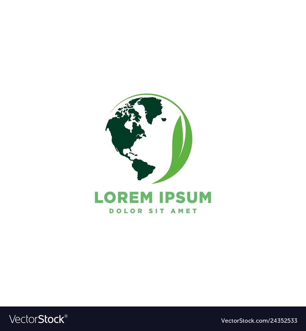 Globe world map splatter logo template
