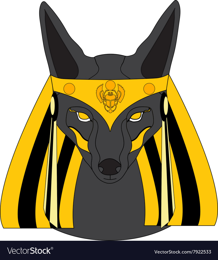 Graphic of Anubis vector image