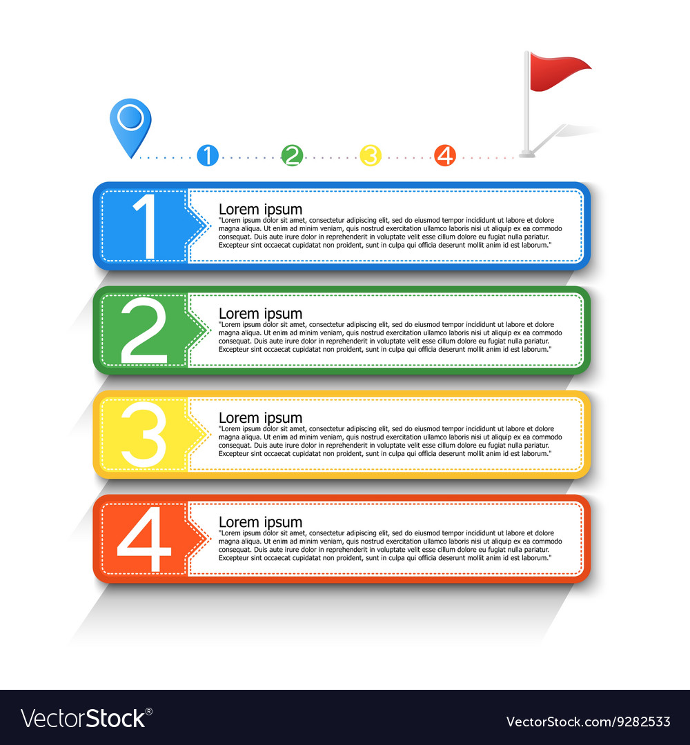 Infographic workflow layout