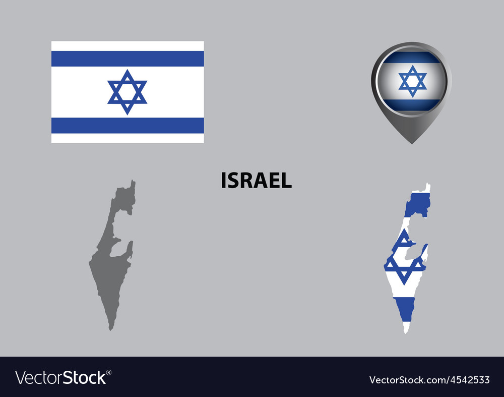 Map of Israel and symbol