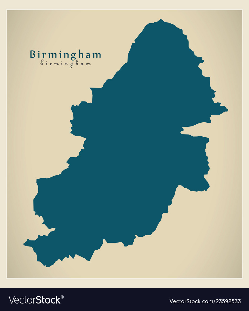 City Map Of England.Modern City Map Birmingham City Of England Uk